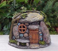 Miniature Dollhouse FAIRY GARDEN ~ Stone Look TROLL Hobbit House with Light NEW