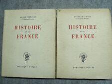 b75 Histoire de la France - André Maurois - 1947 - 2 tomes