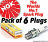 6x NEW NGK Replacement SPARK PLUGS - Part No. BP6EFS Stock No. 3812 6pk