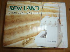 SEW LAND OVERLOCK SEWING MACHINE COMES NEW UNUSED