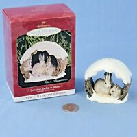 Hallmark Snowshoe Rabbits in Winter Keepsake Ornament in Original Box NOS