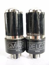 Pair 1940s GM/Delco 6V6GT/G tubes - TV7B tested @ 73, 79, min: 46