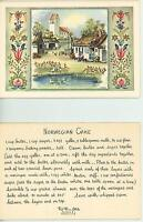 VINTAGE FARM COTTAGE HOUSE GARDEN GEESE NORWEGIAN CAKE RECIPE CARD ART PRINT
