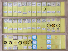 36 Vintage Microscope Slides -- Botanical etc.  Set #1