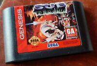 Sega Genesis, 1994 Sub Terrania loose cart, cleaned & tested, authentic