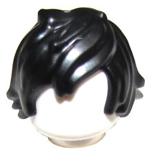 LEGO NEW BLACK MINIFIGURE HAIR TOUSLED WITH LONG BANG MALE NINJAGO WIG PART