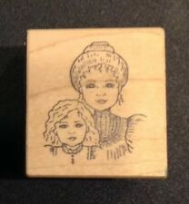 Great Impressions Victorian Mother Daughter Rubber Stamp C207