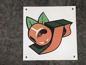 OJ Wheels banner poster sign skate skateboard garage shop bedroom OJII orange