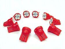 10 Red Pontiac SUPER BRIGHT 12V LED 194 Wedge Instrument Panel Marker Light Bulb