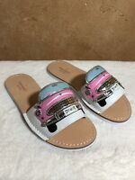 NEW Kate Spade Isla Slip On Sandals Size 6 White/ Pink Cadillac
