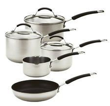 Meyer Stainless Steel Induction Compatible Cookware Set Silver 5-piece