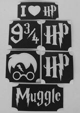 GLITTERTATTOO 6 stencils harry potter neat glitter tattoo L@@K