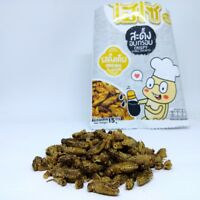 Hiso crispy Small Crickets Original Flavor High Protein Edible Insect Snack 15g