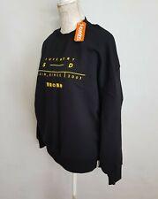 Superdry Womens Slouchy Coded  Sweatshirt black size uk 10