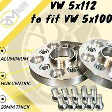 VW 5x112 57.1 to fit VW 5x100 57.1 wheels 20mm Hubcentric PCD Adaptors 1 Pair