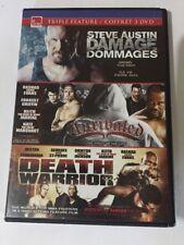 eOne Triple Feature Set 15 (Damage, Unrivaled, Death Warrior) (DVD, 2011, Canad…