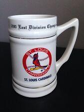 Vintage 1985 St. Louis Cardinals East Division Champions Mug, Stein, White