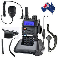 UV-5R BAOFENG Dual Band UHF VHF FM Two-Way Radio Handheld Speaker Microphone