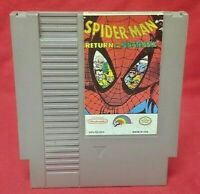 Spider-Man: Return of Sinister six Nintendo NES Game Rare Tested Works Authentic