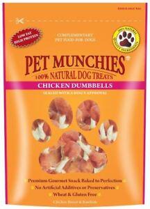 Pet Munchies 100% Natural Dog Treats - Chicken Dumbbells - 100g