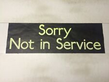 """Barnstable 1990's Bus Destination Blind 30""""- Sorry Not In Service #"""