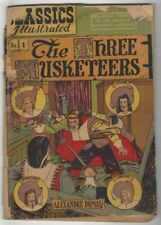 Three Musketeers Gilberton Golden Age Classics Illustrated Comics