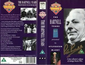 Doctor Who: THE HARTNELL YEARS VHS Cover Signed by Peter Purves