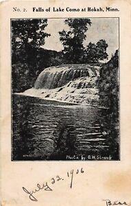 H66/ Hokah Minnesota Postcard c1910 Falls of Lake Como Waterfall  119
