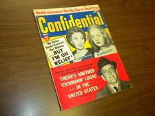 CONFIDENTIAL magazine 1961 May - movies tv politics actors sex adult
