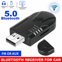 USB Bluetooth 5.0 Wireless Audio Music Stereo Receiver Adapter For TV PC Car AUX