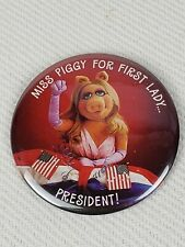 "1980 Hallmark/Henson ""Miss Piggy for First Lady.President"" Pin"