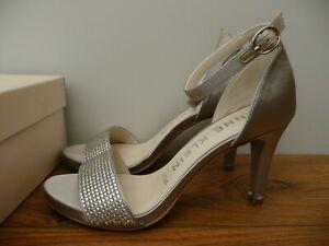 New ANNE KLEIN Size UK 3 EU 36 US 5 SILVER DIAMANTE Crystal High Heels Shoes 5W