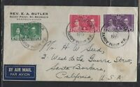 NEWFOUNDLAND COVER (PP1712B)  1937  CORONATION SET TPO  COVER TO USA