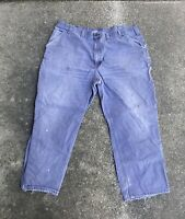 Vintage 90s Mens Gray Distressed Carhartt Dungaree Fit Pants Size 46