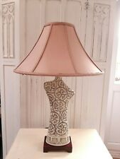 Silk Fabric Coolie Lampshade Large Table Lamp Shade Pink only