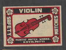 Ancienne  étiquette de paquet  Allumettes Inde BN1369 Violon