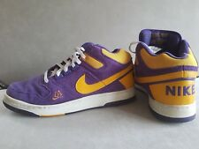 Genuine NIKE Delta Force LA LAKERS Purple Yellow Basketball Trainers UK Size 10