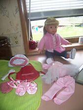 Pottery Barn Kids Gotz Doll - blonde hair blue eyes - includes exta clothes