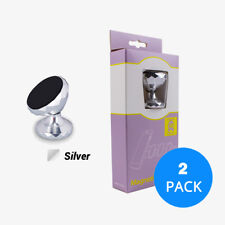 2 Pack Silver 360° Rotating Car Magnetic Dash Mount Holder For Phone GPS Mobile