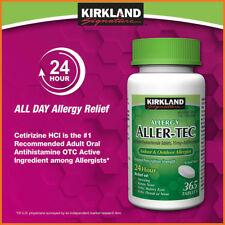 [NO TAX] Kirkland Signature Aller-Tec, 365 Tablets, Allergy Relief