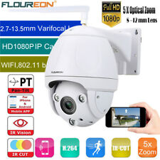 FLOUREON 1080P HD WIFI Wireless 5X ZOOM PTZ Dome IP Camera Outdoor CCTV Security