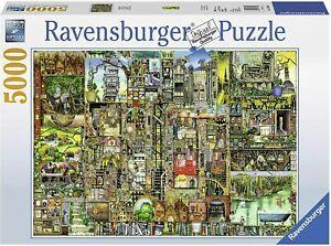 Ravensburger Colin Thompson Bizarre Town 5000 Pc Puzzle - NEW - RARE