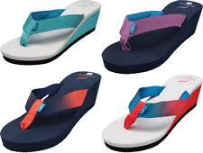 Norty Women's Platform Wedge Soft Cushioned Footbed Flip Flop Thong Sandal