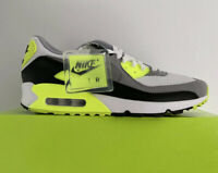 Nike Air Max 90 Volt White Gray Black CD0881-103 Running Shoes Men NEW Size 9.5