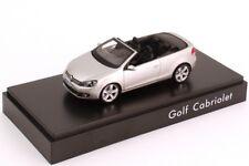 VW GOLF VI GT TSI TDI 2012 CABRIOLET TUNGSTEN SILVER 1:43 SCHUCO (DEALER MODEL)