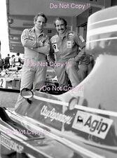 Niki Lauda & Clay Regazzoni Ferrari F1 1974 fotografía de retrato