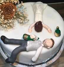 Personalizado borracho Novia & Novio Wedding Cake Topper Humor Divertido Figuritas