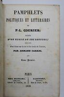 Pamphlets politiques et littéraires de P.-L. Courier
