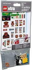 LEGO City Xtra 853921 - 5 fogli con adesivi per mattoncini + acc NUOVO SIGILLATO
