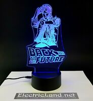 Marty McFly Back to future lampada luce notturna Led 3D Acrylic Night Light Lamp